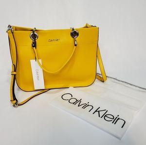 NEW Calvin Klein Leather Satchel Bag